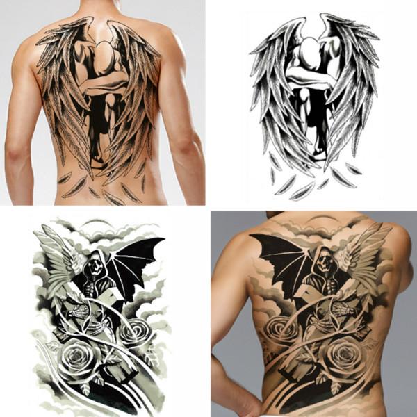 Large Black Carp Tattoos Waterproof Big Temporary Tattoo Stickers ...
