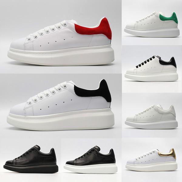 Haute qualité rouge blanc noir Luxe Mode Chaussures Hommes Casual Marque Or Low Cut designers plat cuir hommes femmes sport chaussures de sport 36-44