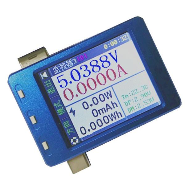 Für iPhone iPad Handy PC Tabelle USB-Ladedatenleitung Tester Überwachung Spannung Strom Kapazität Leistung Digitalanzeige