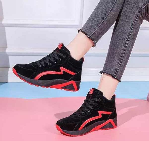 2019 white green red designer shoes women casual shoes comfortable leather candy colors outdoor walking sneakers size 36-40, Black