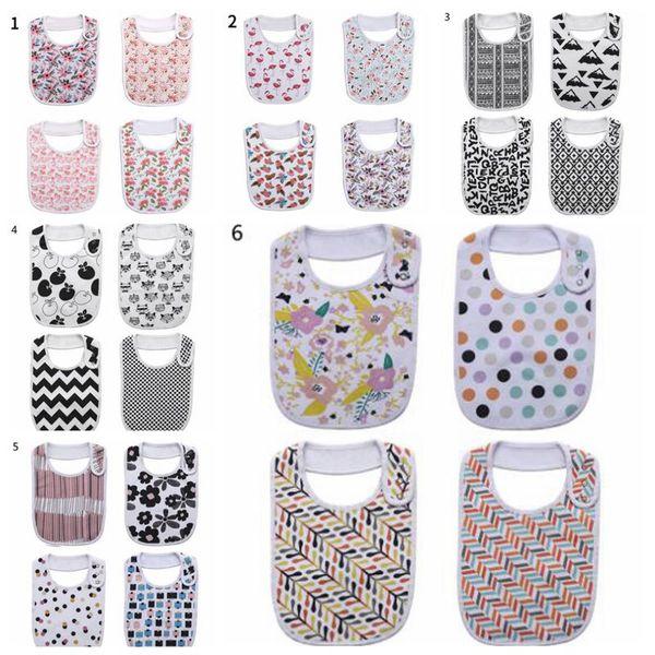 Baby Bandana Bibs Infant INS Cartoon Burp Cloth Saliva Towels Kids Cotton Printed Triangle Head Scarf Fashion Feeding Slobber Pinafore A5065