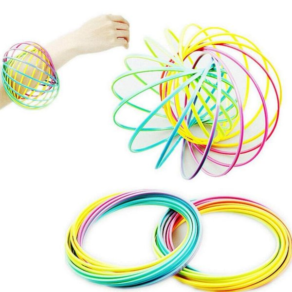 Toroflux anillo de flujo juguete holográfica en movimiento crea anillo de flujo del arco iris Juguetes Anillos de flujo para los niños