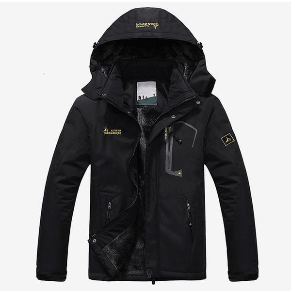 Hombres chaqueta de invierno de terciopelo Parka más el tamaño 6XL capucha cazadora hombres 2019 gruesos calientes Parkas acolchado Escudo unisex de la manera Outwear SH190918