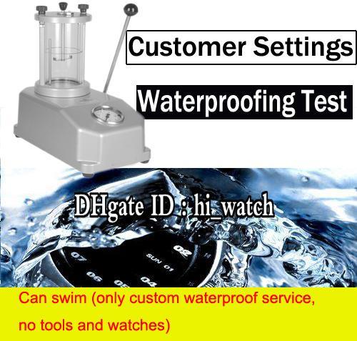 Servicio personalizado a prueba de agua