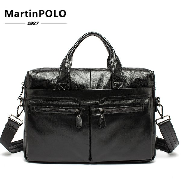 Men Briefcase Bags Genuine Leather Bags Fashion Messenger Bag Men Leather Totes Shoulder Laptop Bag Briefcase Handbags MLT9005