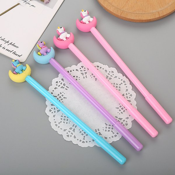 Cartoon moonlight unicorn gel pen creative stationery cute moon pony water pen pen school stationery