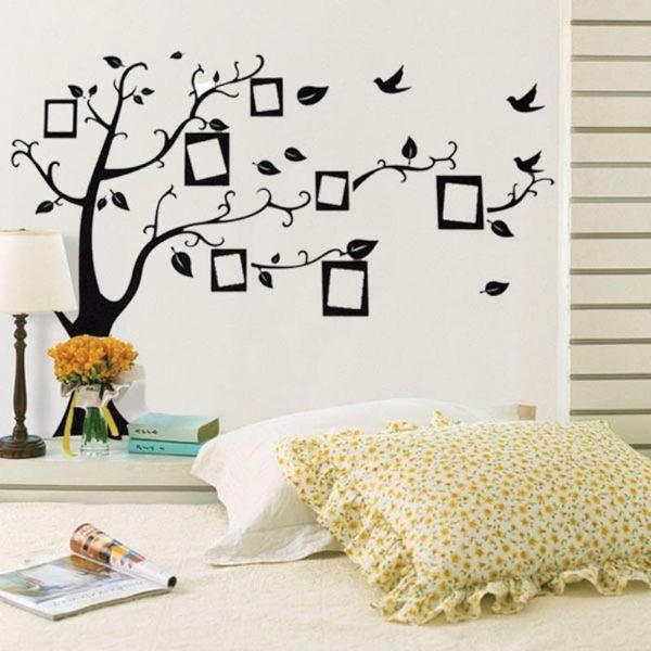 3d adesivo de parede black art photo frame memória árvore adesivos de parede home decor família árvore wall decal removível papel de parede mayitr