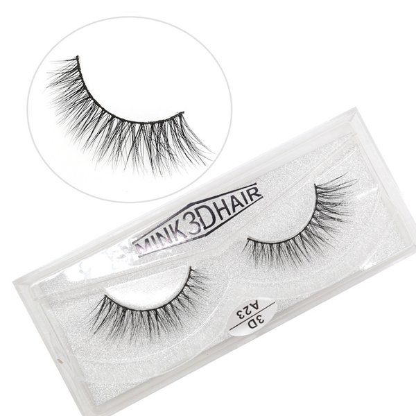 A23 3D A series 100% Real mink Eye Lashes Thick false Eyelashes a pair of false eyelashes with Crystal box
