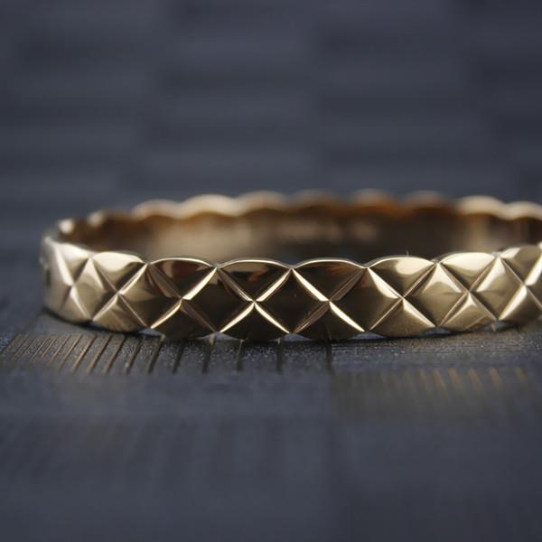 Jewelry Design Donna Oro donne del braccialetto d'acciaio di titanio Rhombic CCrush braccialetto festa di nozze di fidanzamento