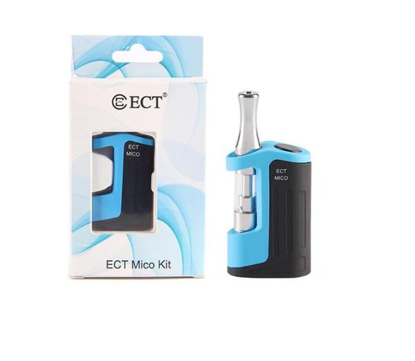 Atacado New ECT Mico Vape Kit para Kits de Acionador de Óleo de Espessura Kit Vaporizador 500 mah Bateria 510 Rosca Inferior Ajustar Tensão Pré-aqueça
