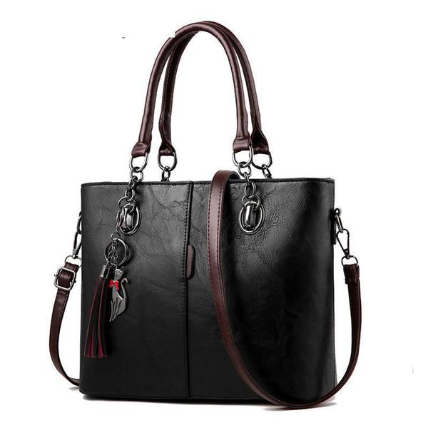 Borsa delle donne della borsa del progettista 2019 delle borse delle donne di buona qualità grande per la borsa di cuoio europea della borsa della borsa a tracolla solida delle donne