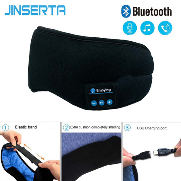 Yığın Kulaklık Kulaklıklar JINSERTA Kablosuz Stereo Bluetooth Kulaklık Uyku Maskesi 5.0 Bluetooth Uyku Yumuşak Kulaklık ...