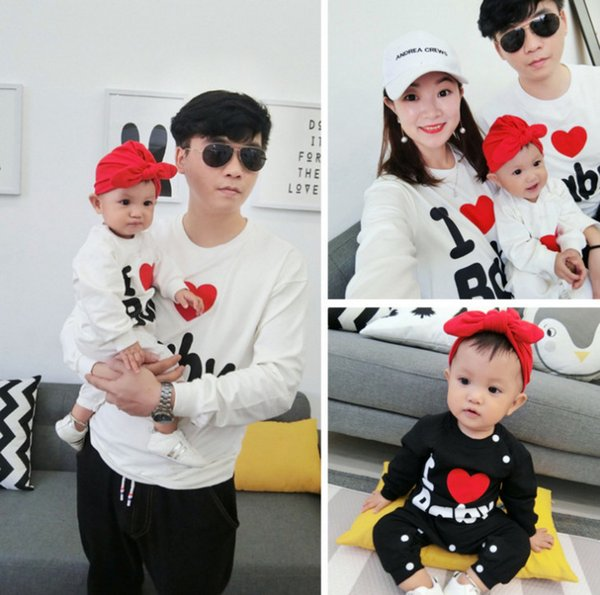 Girls LOVE heart embroidery sweatshirt kids long sleeve pullover valentine s  day mommy and me matching outfit eecdc30d4477
