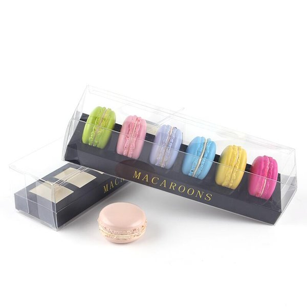 Bakery Kraft Cardboard Package Wedding Favor Macaron Cake Paper Boxes With Clear PVC Window LX7768