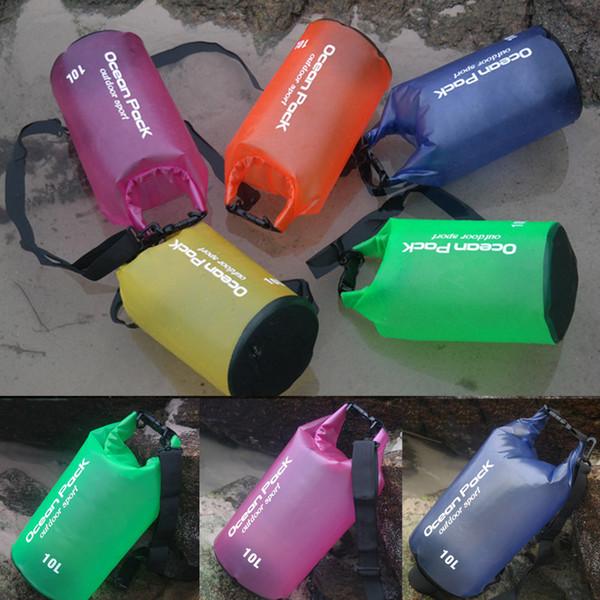 Folding Swimming Waterproof Bag Dry Backpack Waterproof Dry Bag Backpack Floating River Trekking Storage Portable Durable Backpack M239Y
