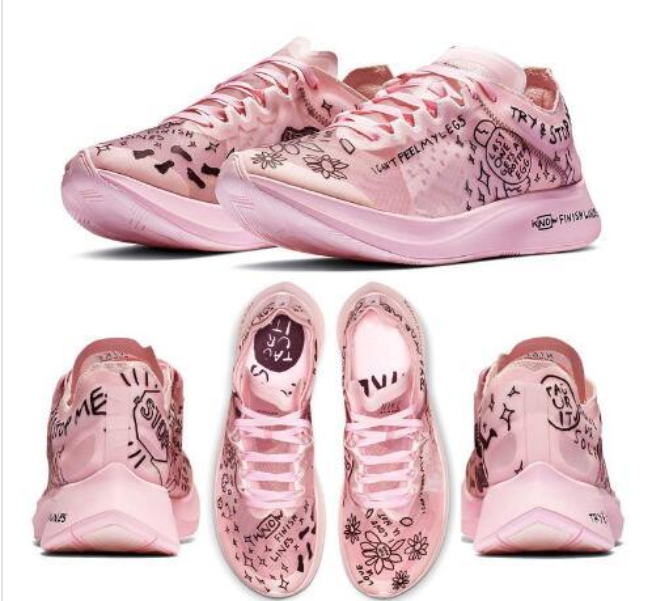 2019 New Zoom Fly SP AS Grafik Geschwindigkeit Streifen Schuhe Fast Nathan Bell Pink Keep Crying Künstler Brief Männer Frauen Designer Turnschuhe