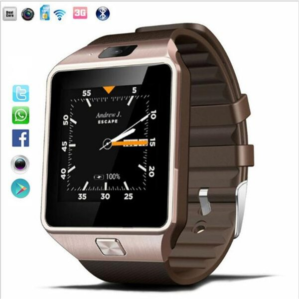 QW09 Smart Watch Männer Android 4.4 MTk6572 512 MB + 4 GB 3G Wifi Bluetooth Smartwatch MP3 Player Wetter für Android IOS Telefon PK DZ09