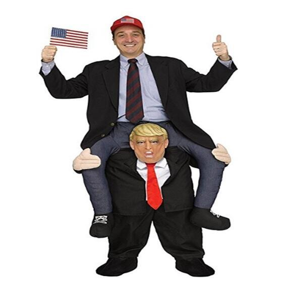 Donald Trump Pants Party Dress Up Ride On Me Costumes Carry Back Novelty Toys Halloween Party Fun Cosplay Clothes CCA10821 6pcs