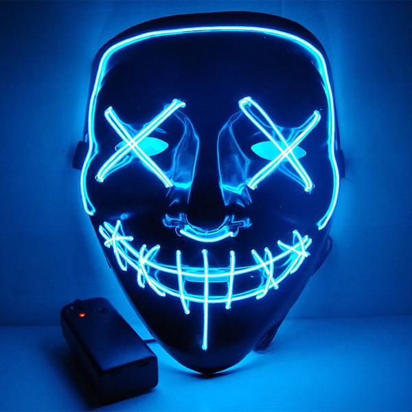 Halloween Mask Funny LED Light Up The Purge Election Year Grandi maschere Festival Glow In Dark Home Decoration Accessori per feste
