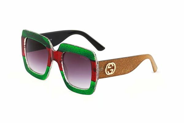 2019 Brand Designer Polarized Hombre mujer Gafas de sol Montura semi sin montura Gafas de conducción Lentes polarizadas con estuche marrón y caja de accesorios