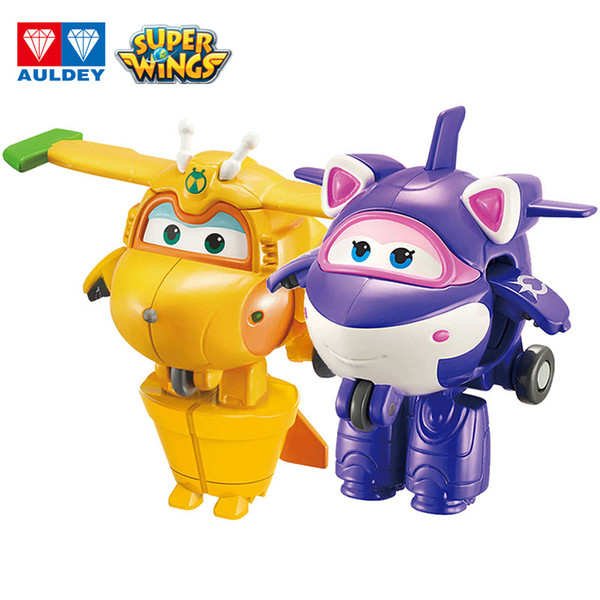 best selling AULDEY Super Wings Mini Figures Robots New Role Batch Cher Single Transforming Airplane Anime Toys Kids Boys Girls Birthday Gifts 3T+