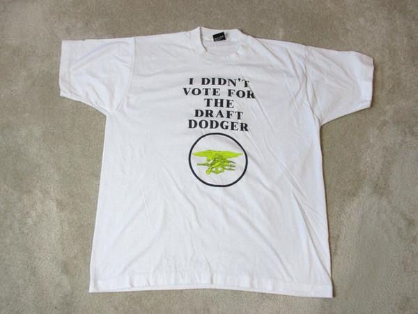 VINTAGE Ben Oyma Dodger Gömlek Oy vermedi Yetişkin Ekstra Büyük Ekran Yıldız Erkekler T-Shirt Üstleri Hip Hop Kısa T Gömlek