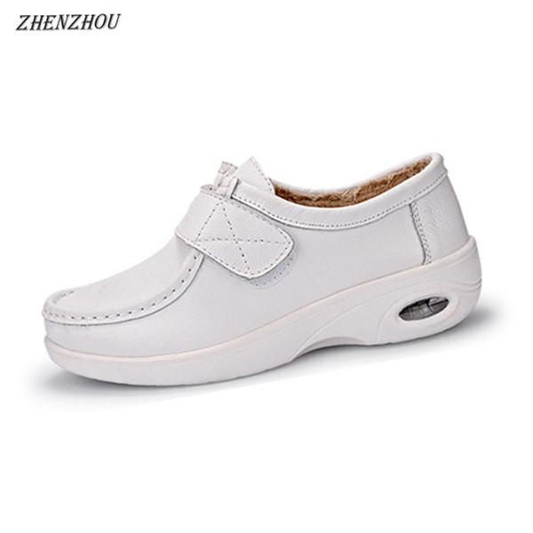 Freizeit Schuhe Steigung 2018 Schuhe Rutschfeste Weiße Ferse Frauen Wolle Warme Winter Kissen Krankenschwester Kleid Großhandel 2019 Hinzufügen Mutter wPk08nOX
