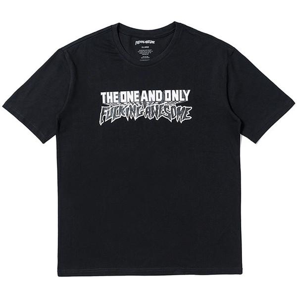 Fodendo Impressionante T-shirt Das Mulheres Dos Homens A ÚNICA e Única camiseta Harajuku Marca tshirt Hip Hop Streetwear Verão Roupas de Algodão Impresso Tees Tops