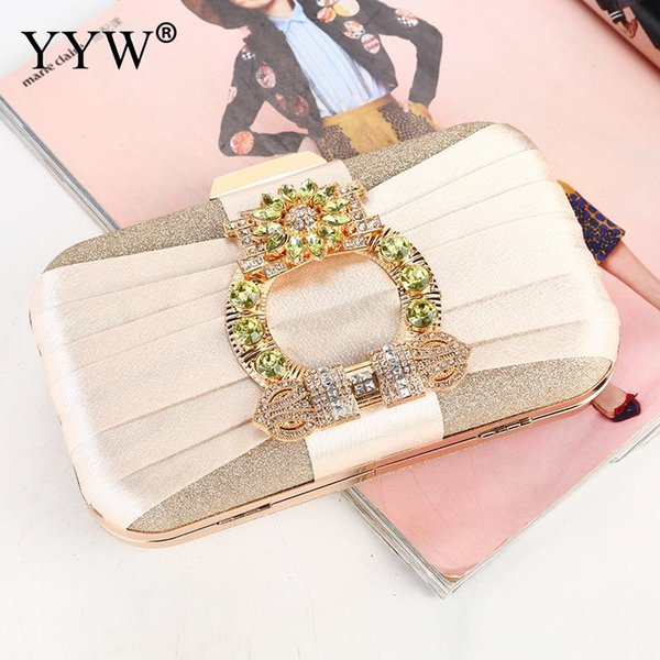 e2da44d6b249c 2019 New Diamonds Evening Bags Wedding Clutch Bags For Women Sequin Bag With  Chain Party Clutches