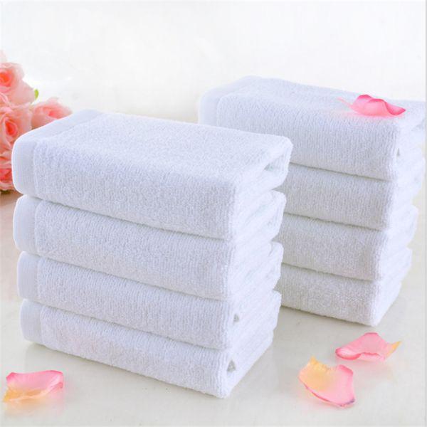 Гостиничные полотенца хлопок Белый отель полотенце для лица 100 г толстый мягкий полотенце для рук Фабрика оптом