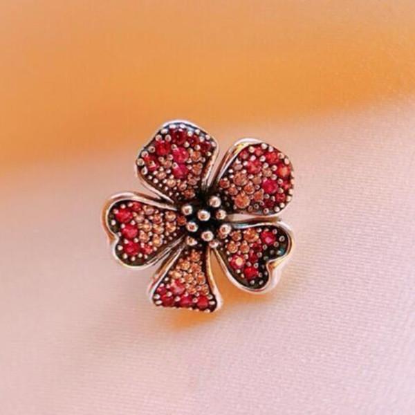 2019 Новый Стерлингового Серебра 925 Цветов Шарм Бисер Подходит Европейский Пандора Стиль Ювелирные Браслеты Ожерелье