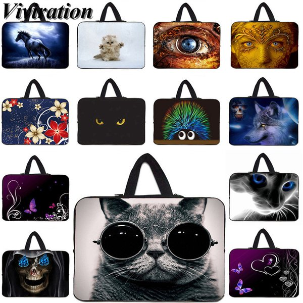 Funda Tablet Case 9.7 10 10.1 11.6 12 12.1 Laptop Bag 17 17.3 15 15.6 14 13 13.3 Inch Notebook Cover Cat Prints Netbook PC Bags