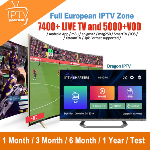 Europe IPTV Subscription Full European Live And VOD For IPTV Box Mag device Smart TV UK France Italy Portugal USA Germany Canada