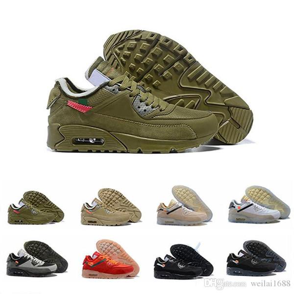 2019 Classic 90 90er Jahre Männer Frauen Laufschuhe Triple Schwarz Weiß Rot cny oreo Atmungsaktive Mode Luxus Herren Frauen Designer Sandalen Schuhe