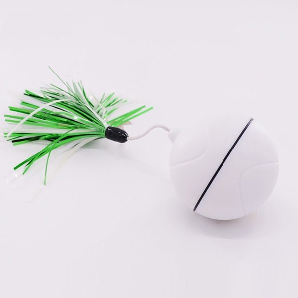 Pet Luminous Rolling Ball Pet USB Charging Plastic Toy Cats Dogs Funny Toy HG99
