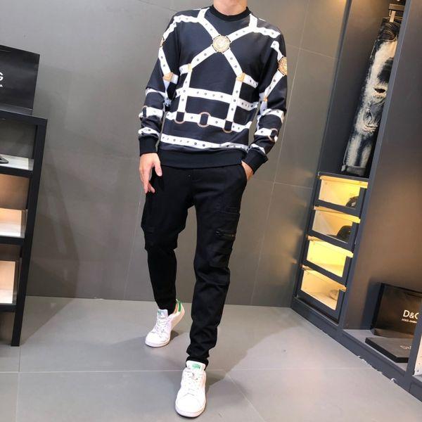 2019Autumn ve kış yüksek kaliteli erkek sweater20191012 # 137y1