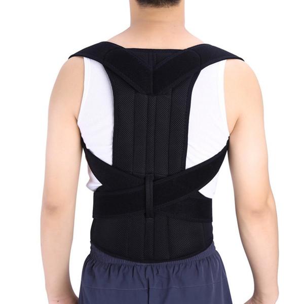 Регулируемый осанки Корректор осанки Боль в спине Brace Band Пояс Унисекс Правильное Положение Тела Пояс Назад Удобная Одежда # 70775