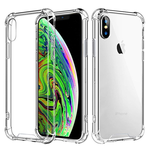 1.5mm clear tpu bumper cases for samsaung note 10 pro s10e s10 5g j4 core s9 iphone 11 pro xr xs max x 8 plus four corners ultro protectors