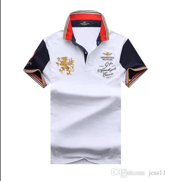 2019 summer new men's cotton lapel embroidered short sleeve T-shirt men's matching large size polo shirt m-2 xl