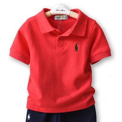 2019 verão crianças roupas de grife meninos crianças lapela mangas curtas polo t shirt meninos tees marca baby girl roupas meninas clássico tops de algodão