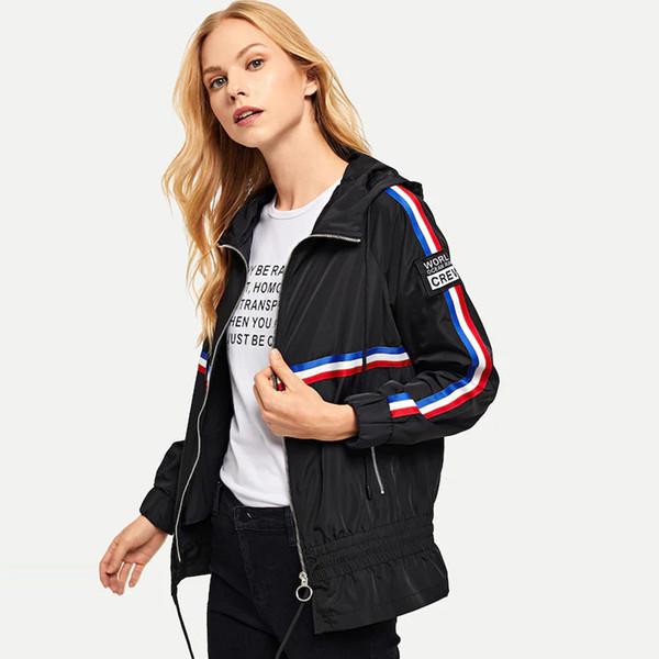 2019 Fashion casual spring autumn harajuku female coat Splice sports fashionable women windbreaker bomber jackets