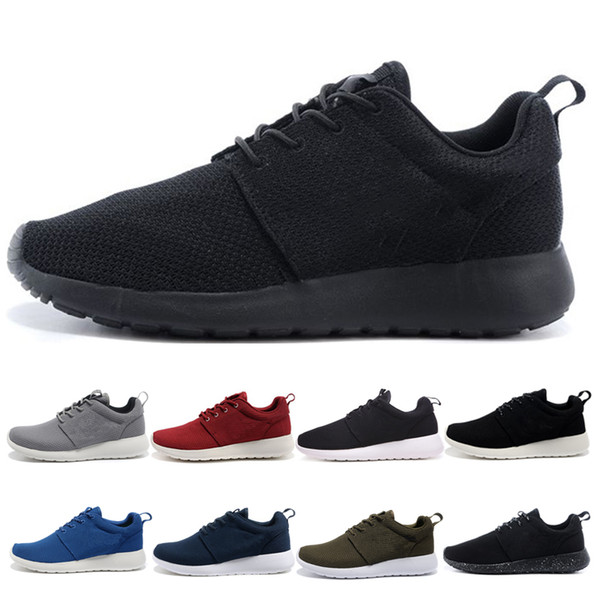 Großhandel Nike Roshe Run One Classic Run Sneaker Schuhe Triple Schwarz Grau Rot Blau Herren Damen Laufschuhe London Olympic Runs Outdoor Herren Sport