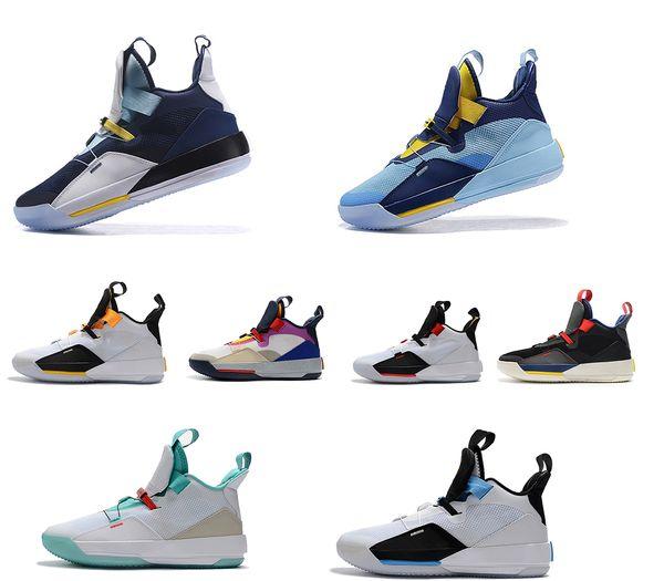 2019 33s mens XXXIII scarpe da basket 33 scarpe da ginnastica di marca bianco nero Guo Ailun formatori Tech Pack Sport scarpe sportive giovanili