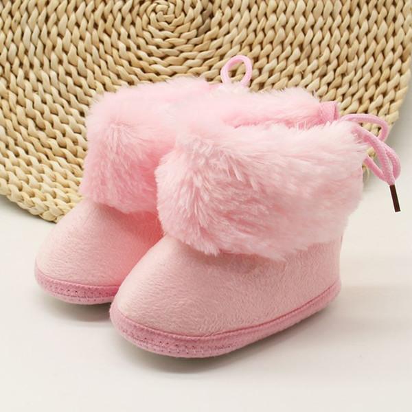 Inverno Doce Bebê Recém-nascido Meninas Princesa Botas de Inverno Primeiros Caminhantes Macio Solado Infantil Criança Crianças Menina Calçados Sapatos