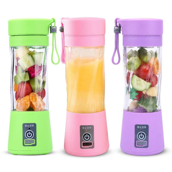 top popular Portable USB Electric Fruit Juicer Handheld Vegetable Juice Maker Blender Rechargeable Mini Juice Making Cup With Charging Cable BH1741 TQQ 2020
