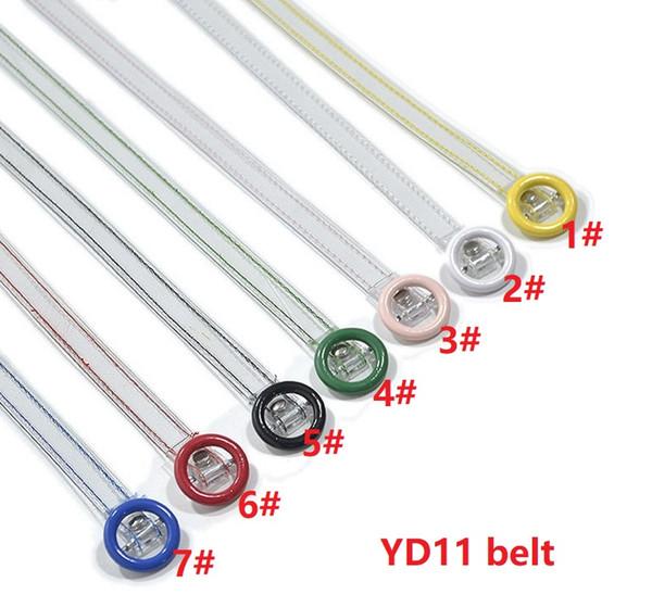 YD11 7Color Las nuevas mujeres transparentes Color del PVC Correa delgada Camuflaje Cristal de la manera de las mujeres de la correa 110cmx1.4cm 150pcs / lot DHL