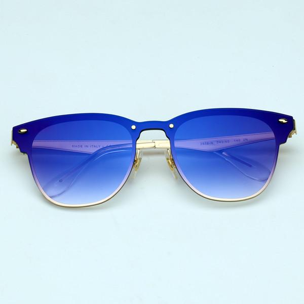 043 / X0 الذهب / مرآة التدرج الأزرق