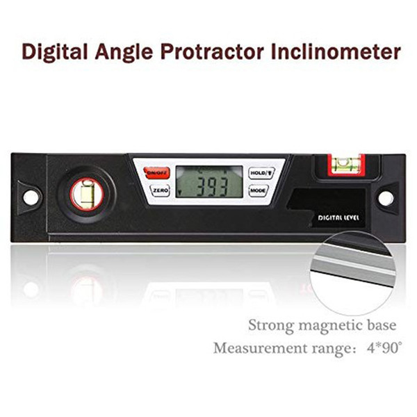 top popular Freeshipping Digital Angle Gauge Level Box Protractor Angle Finder Inclinometer With Magnetic Base Calculating For Carpentry Building Mason 2021