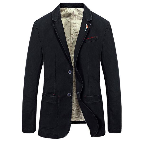 New Mens Blazer Jackets Male Fashion Cotton Casual Suit Jacket Men Blazer Coat Brand Slim Fat Vintage Outwear Clothing BF66002A MX191118
