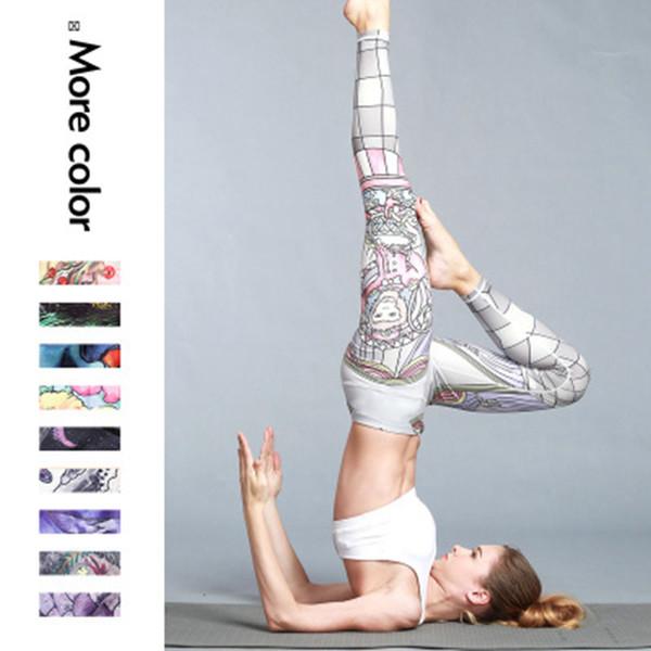 best selling Print Yoga Pants Women Unique Fitness Leggings Workout Sports Running Leggings Push Up Gym Wear Elastic Slim Pants ZZA1022